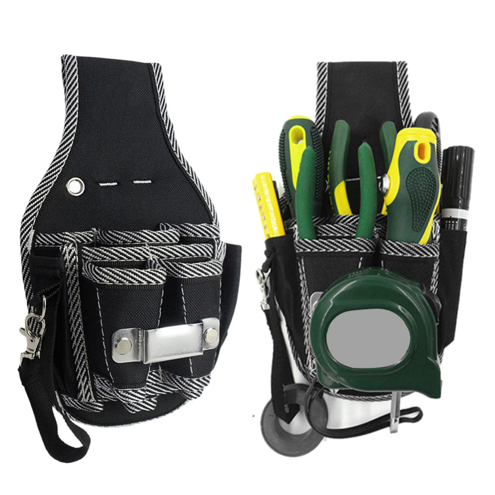 600D Nylon Fabric Tool Bag 9 In 1 Screwdriver Utility Kit Holder Electrician Waist Pocket Tool Belt Pouch Bag