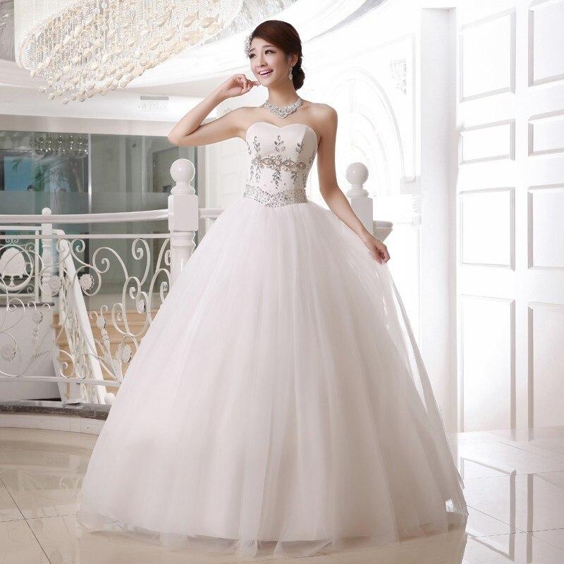 2017 Brand New Wedding Dresses White/Ivory Elegant Bridal Gown Beads ...