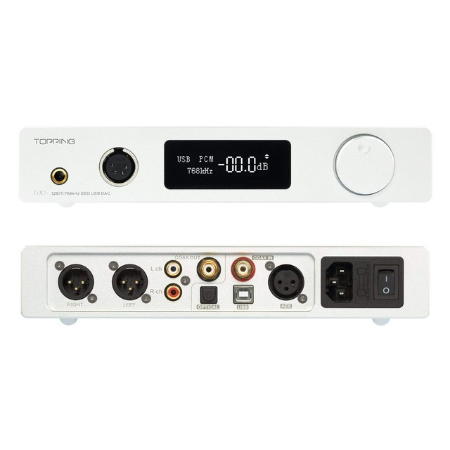 Topping DX7S 2*ES9038Q2M 32Bit/768K DSD512 DSD USB Full Balanced DAC Headphone Amplifier 3