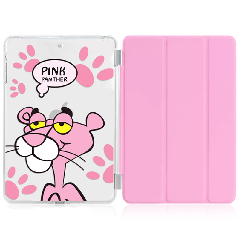 Case for Ipad 2 3 4 Pink Panther Series Auto Sleep /Wake Up Flip PU Leather Case for Ipad 2 3 4 Smart Stand Cover nice tpu soft silicone back case stand smart cover for apple ipad 2 3 4 case pu leather magnetic wake sleep slim