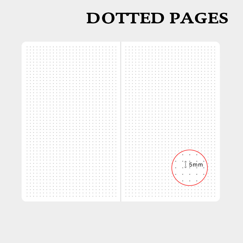 Dotted Hard Cover Bullet Notebook Granite Elastic Band Travel Diary Dot Grid Bujo Journal in Notebooks from Office School Supplies