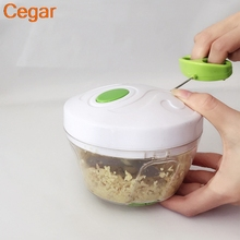 Multifunction Vegetable Chopper Cutter Processor Garlic Fruit Meat Twist Shredder Manual  Grinder juice