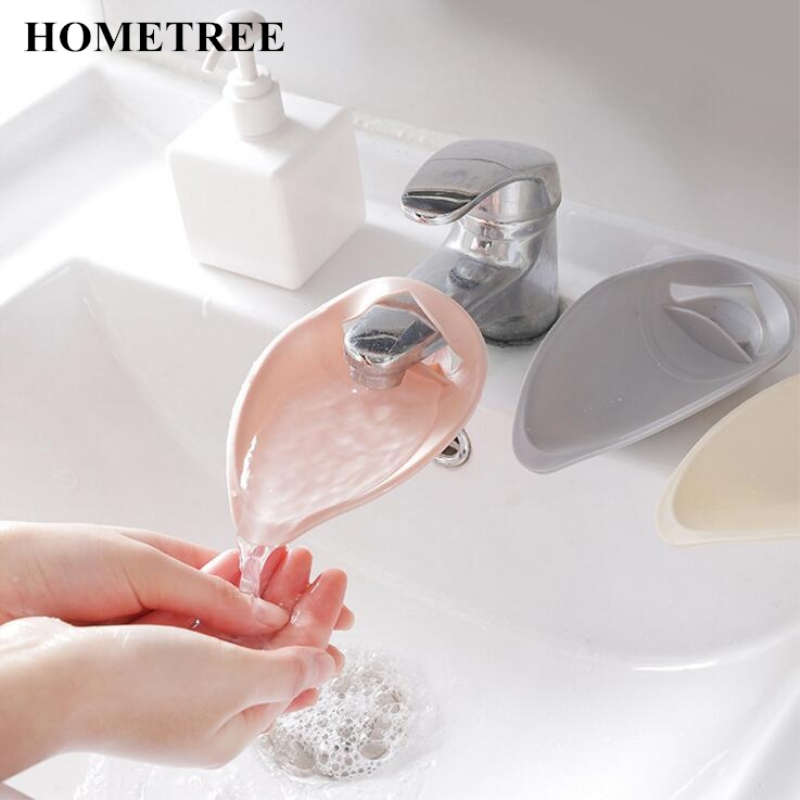HOMETREE Silicone Faucet Extender Toddler Kids Water Reach Faucet Rubber Hand Washing Bathroom Accessorie Kitchen Gift  H109