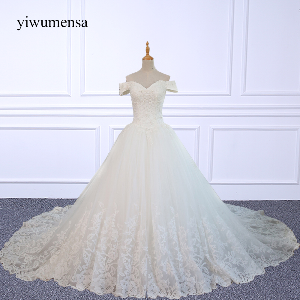 Muslim Wedding Gown Pictures: Yiwumensa Real Pictures Ball Gown Vintage Wedding Dress