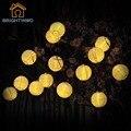Luces solares de la Secuencia Globle Bola Linterna Al Aire Libre 20 LED de hadas de Navidad Luces de la Trayectoria Del Jardín Del Partido