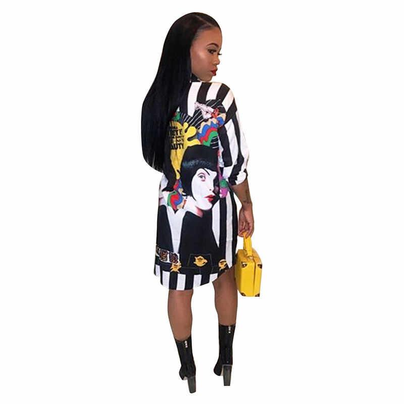 Осенняя блузка с длинными рукавами и принтом для женщин, отложной воротник, свободная черная длинная рубашка, топы для женщин блуза Blusas Femininas