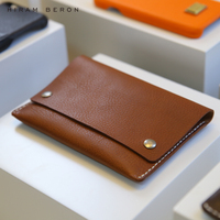 Hiram Beron Italian Vegetable Tanned Leather Passport Case bag Casual travel case Custom Name Service leather covers