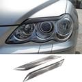 Reiz Mark X Adesivo de Carro De Fibra De Carbono Farol Sobrancelhas Pálpebra Capa Guarnição para Toyota Reiz 2004-2009