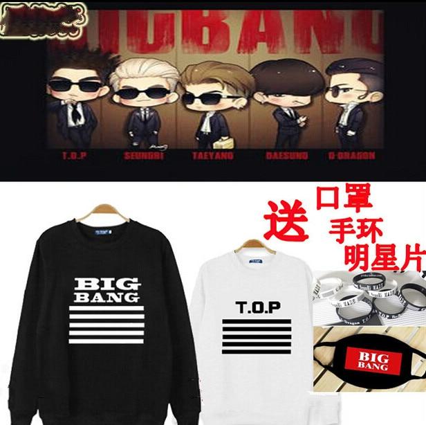 Kpop Bigbang Made Jacket long sleeve T Big Bang G-Dragon GD Sportswear Loose Round neck Layer Big Bang Kpop Hoodie