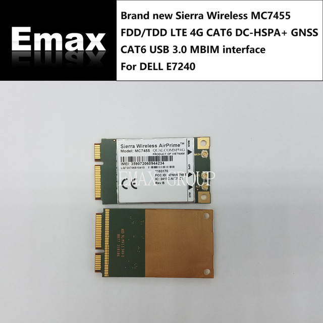 US $104 49 5% OFF|Sierra Wireless MC7455 FDD/TDD LTE 4G CAT6 GNSS USB 3 0  MBIM interface For Dell Latitude E7240/ZBT WG3526 Router-in Integrated