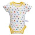 Hot Summer Baby Bodysuit 100% Cotton Newborn Cartoon Car Baby Boys Short Sleeve Roupas Infant Pajamas Clothing Sets