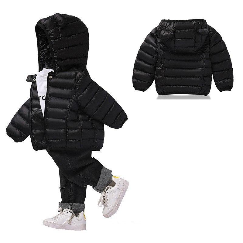 COOTELILI Cute Bear Children's Parkas Winter Jacket For Girls Boys Infant Overcoat Winter Children Coats Warm Kids Jacket Baby  (2)