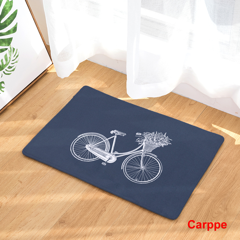 2017 New Home Decor Bicycle Series Carpets Non-slip Kitchen Rugs for Home Living Room Floor Mats 40X60 50X80cm