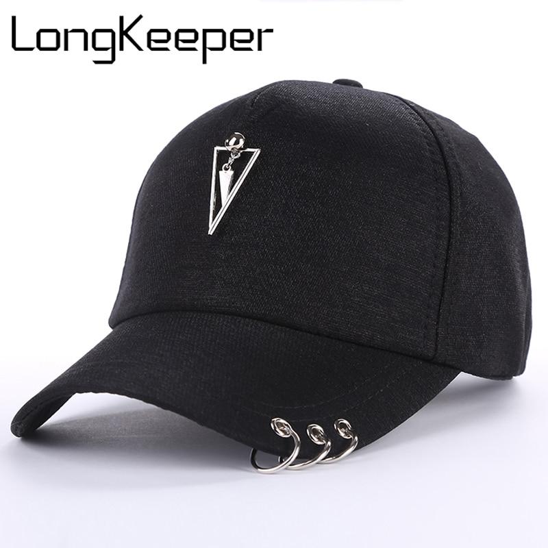 acheter de nouveaux où acheter vêtements de sport de performance € 4.58 40% de réduction|LongKeeper mode Style hommes femmes Casquette de  Baseball unisexe solide anneau broche courbe chapeaux Snapback casquettes  ...