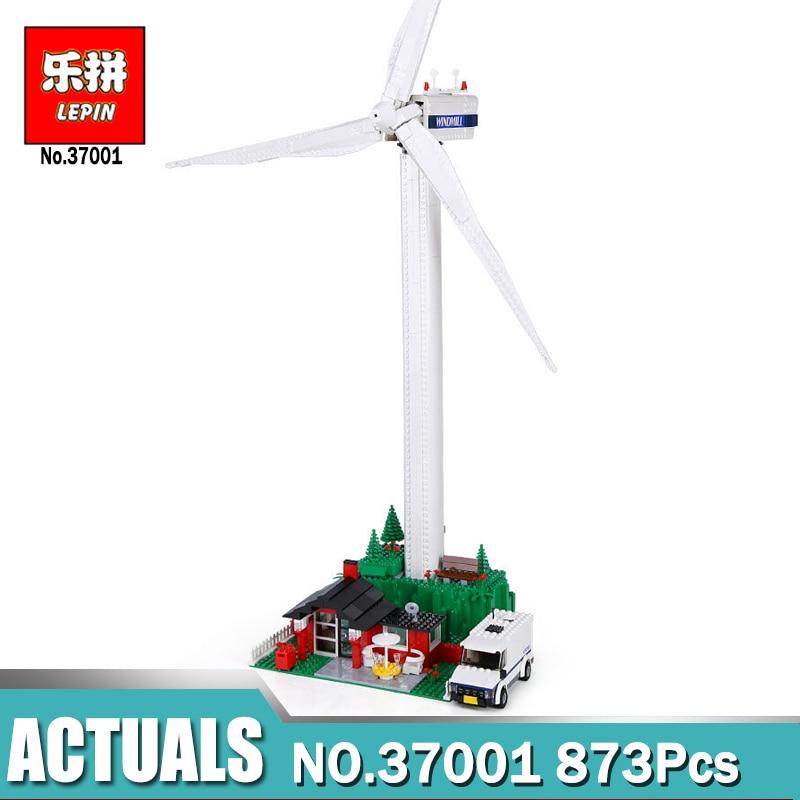 873Pcs Lepin 37001 Genuine Street Series Vestas Wind Turbine Children Building Blocks Bricks Toys Model Gifts LegoINGlys 4999