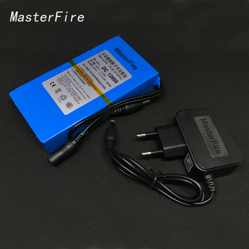 MasterFire New <font><b>DC</b></font> <font><b>12800</b></font> 12V 8000MAH Li-ion Super Rechargeable Battery Backup Lithium-ion Batteries Pack For CCTV Camera image