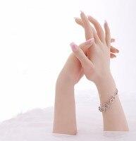 Высокий уровень реалистичные женские мягкие кремния гибкий Манекен ручной для кольцо браслет и дисплей перчаток