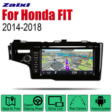 Auto DVD Player GPS Navigation For Honda FIT 2014~2018 Car Android Multimedia System Screen Radio Stereo auto player gps navigation for honda city 2014 2019 car android multimedia system screen radio stereo