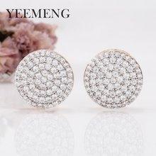 25ac0d1532cc YEEMENG 2019 nuevo estilo coreano elegante Simple hermosa bujías de  encendido de gran círculo Zircon redondo pendientes
