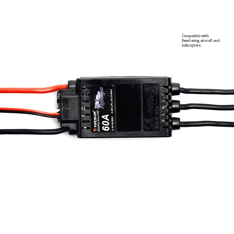 1PCS Flycolor ESC 60A V1 Brushless ESC 2-6s Lipo Electric Speed Controller with 5.5V/5A BEC for RC Helicopter Quadcopter Motors sensorless 35a brushless esc electric speed controller for rc car racing set ft
