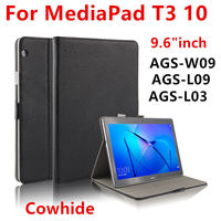 Case Cowhide For Huawei Mediapad T3 10 AGS L03 Ags L09 W09 9 6 Protective Cover