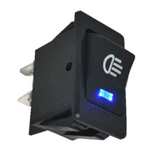 2017 New High Quality 12V 35A Universal Car Fog Light Rocker Switch Blue LED Dash Dashboard Sales