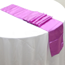 free shipping 50pcs 30 x 275cm lilac cheap satin table runners for banquet wedding table decoration party event supplies