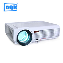 New Arrival! Brightness 5500 Lumens Long life LED lamp Full HD LED home cinema projector 3D lcd Multimedia video game Projector!