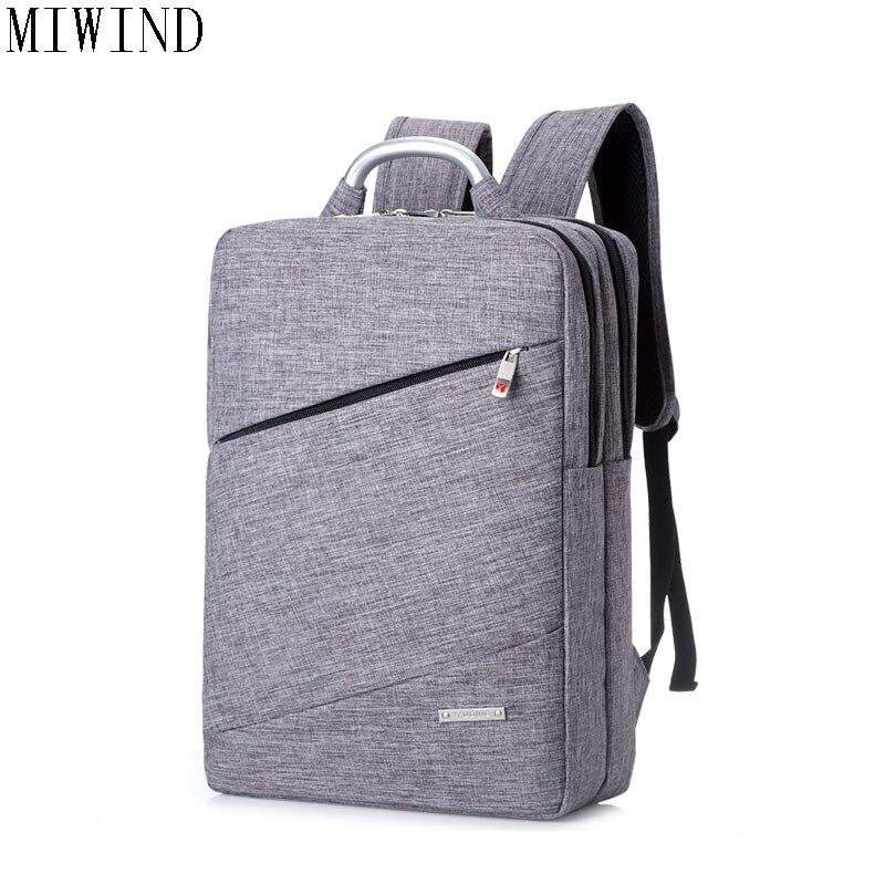MIWIND Nylon School Backpack Student Casual Women Men backpacks for teenage Laptop Rucksacks for girls Travel