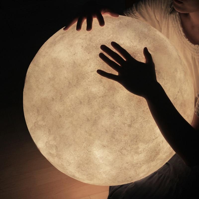 Nordic criativo lua lâmpada de mesa simples