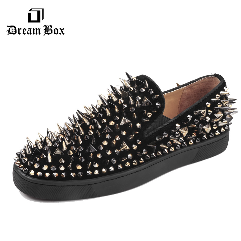loafers menn casual skoleather superstar sko røde bottoms toe nitte buty damskie menn sko