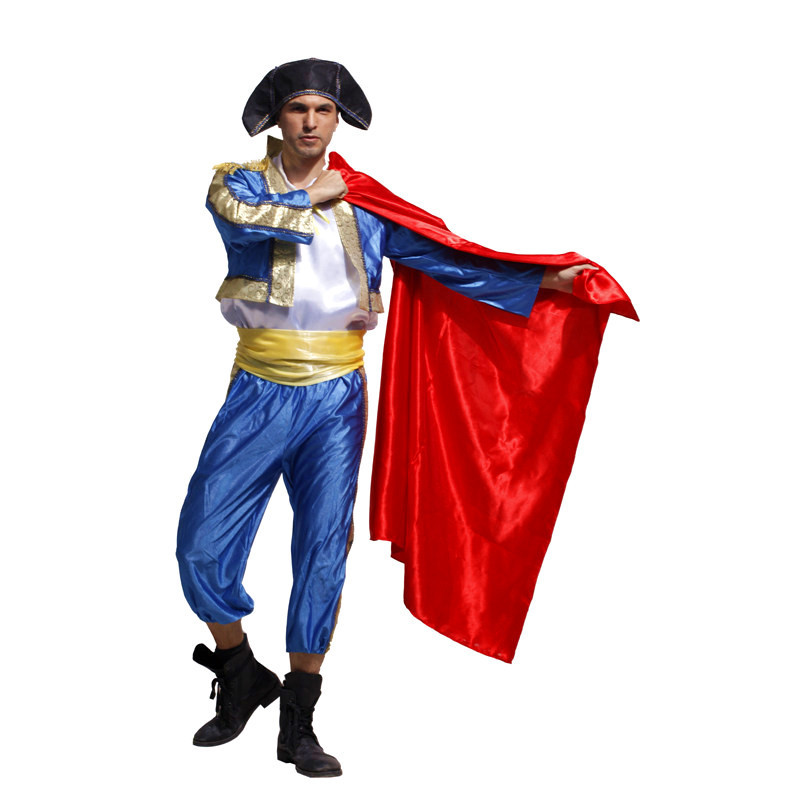 Men Halloween matador Costumes bull fighter Cosplay Christmas San Fermin Purim Carnival stage show Masquerade Rave party dress