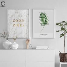 Scandinavian Fresh Plant Canvas Poster Minimalist Nordic Style Wall Art Print Painting Quotes Marble Decoration Picture