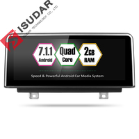 Isudar автомобильный мультимедийный плеер 2 din android 7.1.1 10,25 дюймов для BMW 3 серии F30/F31/F34 320 4 серии F32/F33/F36 НБТ 32 ГБ Rom