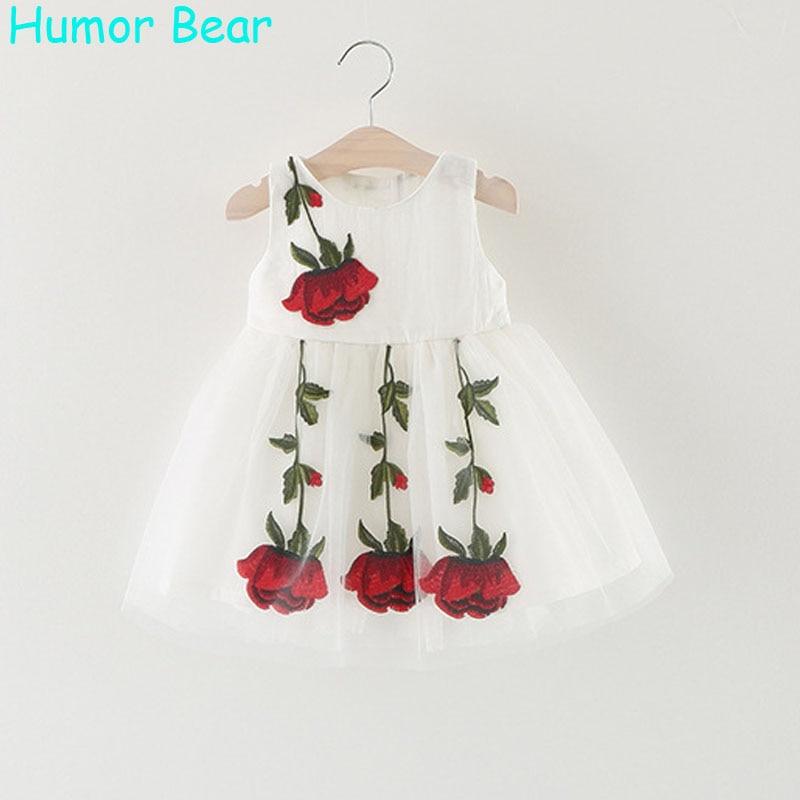 Humor Bear 2017 Baby Girl Dress Birthday Dress lace infant Roses Infantil Bowknot Princess Wedding Dress Baby Girls Clothes