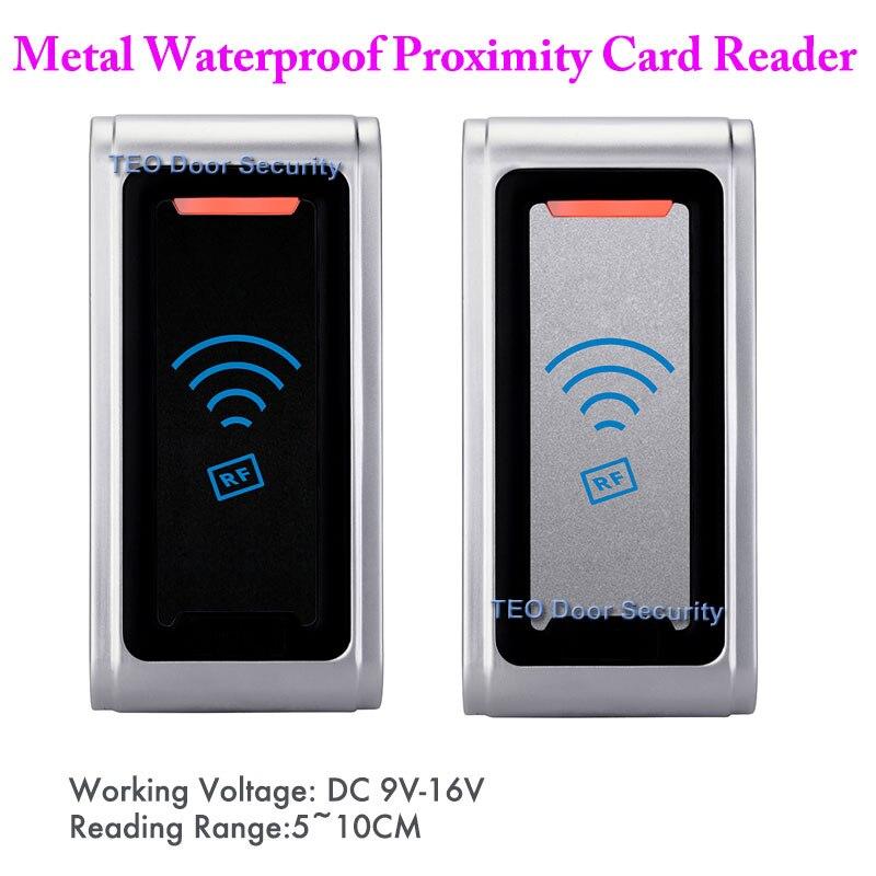 Lecteur RFID contrôle d'accès métal résistant aux intempéries lecteur de contrôle d'accès IP68 WG26 WG34 coque métallique à l'extérieur lecteur RFID appliqué