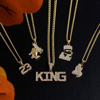 Gold Long Chain Necklaces Unisex Hip Hop Bling Necklace 1