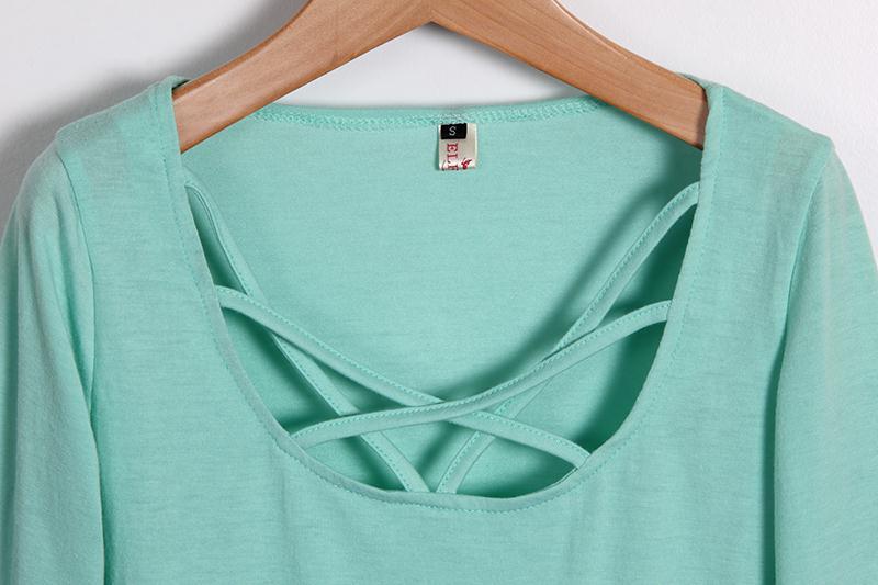 HTB1FbYAMVXXXXalXpXXq6xXFXXXm - Autumn T Shirt Women Long Sleeve Slim Fit Solid