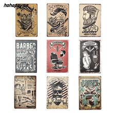 Cartel de hojalata Vintage para barbería, colegio, dormitorio, placa de Metal, decoración, cartel, cafetería, Bar, decoración del hogar, 20*30cm