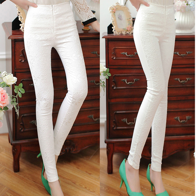 29c9a8b6e93 Fashion casual women trousers fat sister black and white cotton Spring and  summer Mid waist elastic