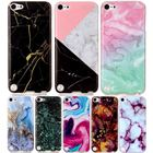 DEEVOLPO Wholesale Bag Case For Fundas Apple ipod touch 5 6 Soft TPU Marble Painted Cover For touch5 touch6 Coque Case Capa D01G
