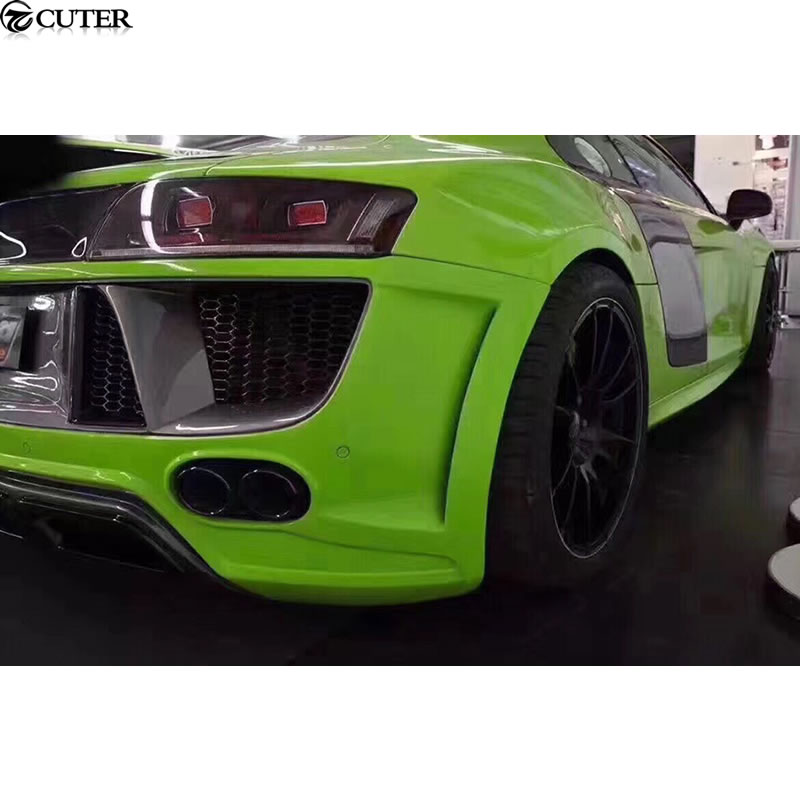 US $1079 99 28% OFF|R8 FRP Unpainted front bumper rear bumper side skirts  front grill for Audi R8 Regula Car body kit 08 15-in Body Kits from