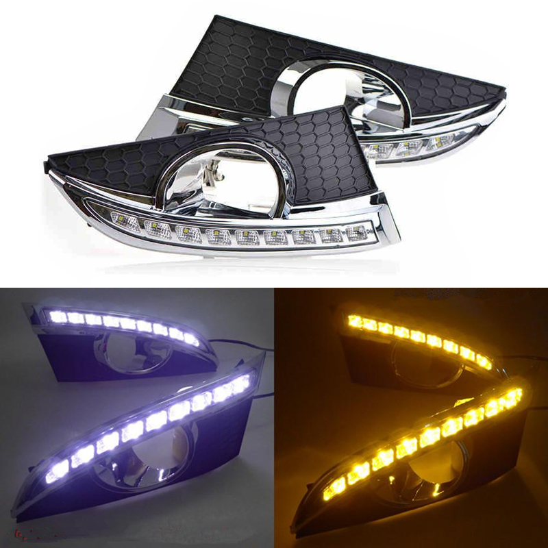 DRL For Chevrolet Captiva 2011 - 2013,Super Bright Waterproof Car DRL LED Daytime Running Light With Fog Lamp Hole Wholesale for toyota corolla 2011 2012 2013 led lights car drl daytime running light lamp top quality super bright exact led bulbs