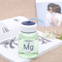 ФОТО beemsk  350ml fashion portable strap glass couple students cute small bottle practical small hand holding water bottle