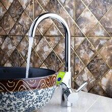 Желтый Одной ручкой Кухня torneira черный цифровой Дисплей поворотный 360 Chrome 97130 бассейна раковины водопроводной воды судно смеситель кран