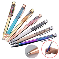 50PCS Set Crystal Metal Ballpoint Pen Luxury 1.0MM Nib Diamond Ball Pen for Writing Custom Logo