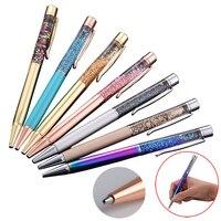 50PCS Set Crystal Metal Ballpoint Pen Luxury 1.0MM Nib Diamond Ball Pen for Writing Custom Logo