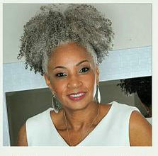 Afro Kinky Curly Weave Ponytail Hairstyles Clip ins gray hair ...