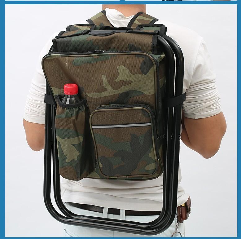 Fishing Chair Backpack Tartan Dining Room Covers Aliexpress.com : Buy Outdoor Portable Multifunctional Foldable Cooler Bag ...