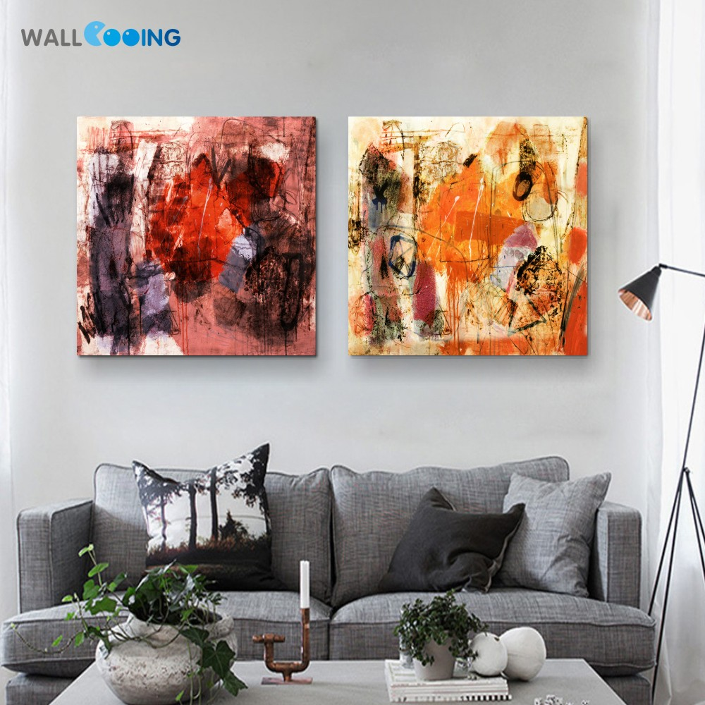 Room wall graffiti - Abstract Graffiti Art Paint Canvas Painting Modular Pictures Home Paintings Setting Spray Artwork Bathroom Wall Art